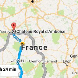 Amboise France Map.Balearic Islands Spain To 37400 Amboise France Google Maps
