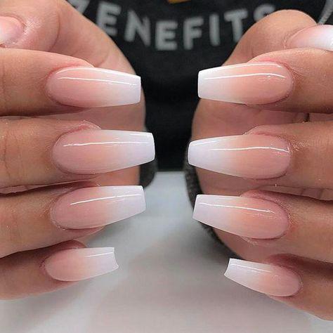 Pretty nails ������������ - #hubsche #nagel- Pretty nails ������������  -#flowerNailArtDesigns #Manicures2018 #nailartdesigns #nailartspring #nailsartdesigns #ombrenails