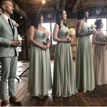 Azazie Dusty Sage Bridesmaid Dresses In 2020 Sage Bridesmaid Dresses Bridesmaid Dresses Dusty Sage Sage Wedding Groomsmen