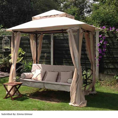 Greenfingers Regency Swing Bed Gazebo Natural On Sale