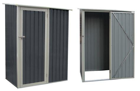 Abri de jardin en métal Joy 1.3 m² gris | OOGarden - Les abris métal
