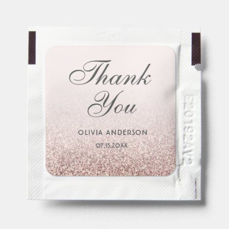 Blush Pink Rose Gold Glitter Ombre Sweet 16 Favor Hand Sanitizer Packet Zazzle Com In 2020 Pink Party Favors Sweet 16 Birthday Party Birthday Party Favors