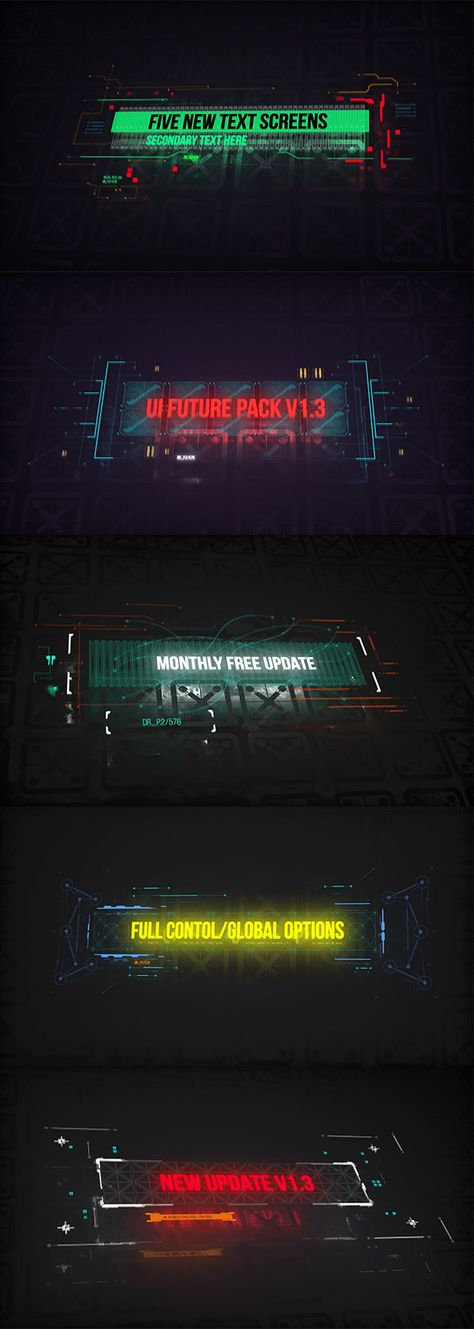 UI FUTURE PACK V1.5/ Monthly FREE HUD Update/ Call-Outs/ Transitions/ Glitch/ Interface by drev0