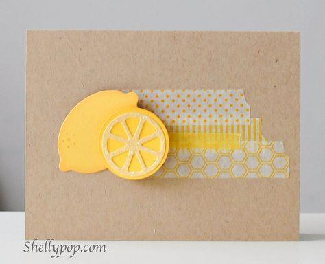 So cute! Sunny lemon card by popsicletoes