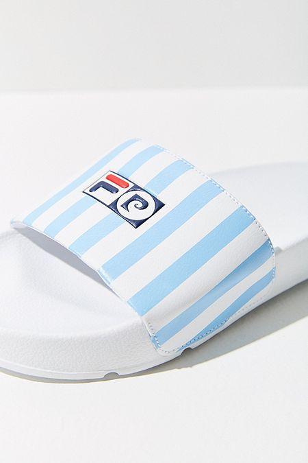 10617eb8cd832 FILA + Pierre Cardin Striped Slide Sandal