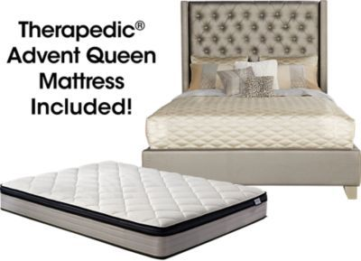 Manhattan Queen Bed Frame Modern Style Low Profile Headboard Platform Bedframe Deal Furniturev Com Queen Bed Frame Bed Frame Upholstered Bedroom