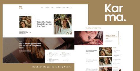 Karma — HubSpot Magazine Theme   Stylelib