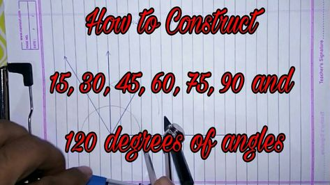 how to construct 15 30 45 60 75 90