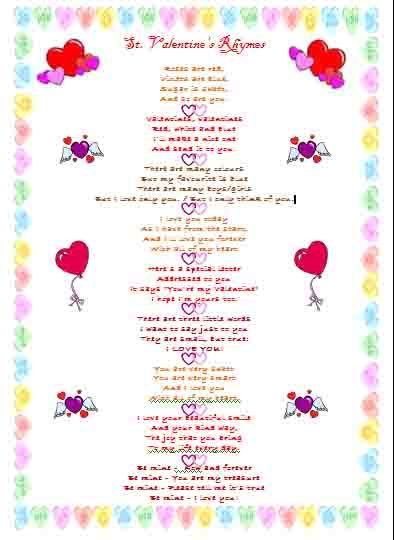 st. valentine's day - rhymes - pinned@pediastaff – please, Ideas