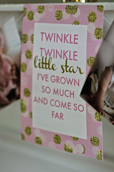 Caroline's Twinkle Twinkle Little Star 1st Birthday Party