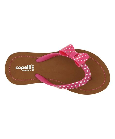 5c40ebcd5 Look at this Pink Polka Dot Bow Flip-Flop on  zulily today!