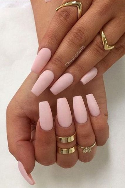 30 Manicure Ideas That Will Make You Mad For Matte In 2020 Light Pink Acrylic Nails Pink Acrylic Nails Pink Acrylic Nail Designs