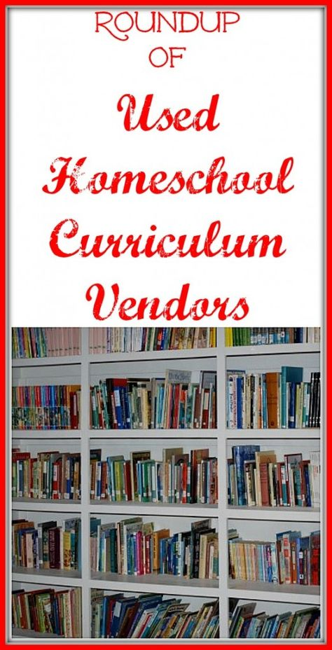 Huge round-up of places to buy used homeschool curriculum!!