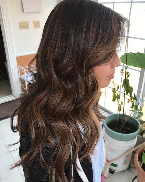 """75 Likes, 3 Comments - @hairby_kimalexis on Instagram: """"Brown balayage 🖌✨"""""""