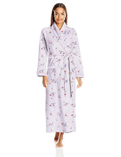 ee23ff4c82 Carole Hochman Womens Diamond Quilted Long Robe Flowers Pale Lotus Large      Check out the image by visiting the link.