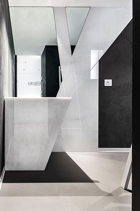 Bagni Moderni In Marmo.Bagno Moderno Lavandino Moderno In Marmo Bagno Bianco E Nero