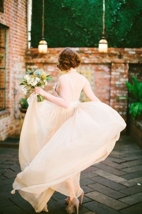 blush wedding dress // bridal inspiration