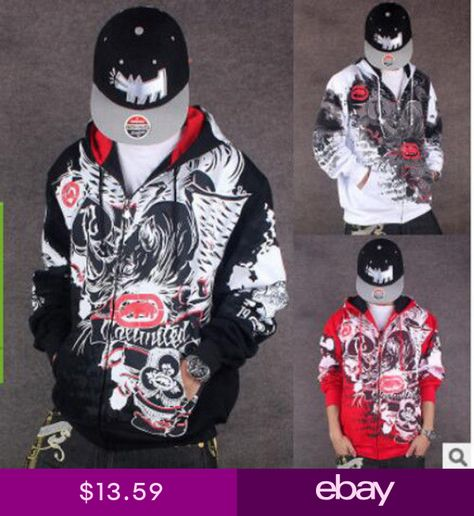 New Hip-Hop Ecko Unltd Hoodie Coat Cotton Rhino Graffiti Sweater Sweatshirt 4cc4027f5d0
