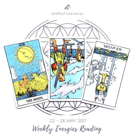 #WeeklyEnergies #WeeklyTarotReading for 22 - 28 May 2017  There's a Super New Moon this week which will help to sharpen our intuition just a little more so that we can recover what is ready to be revealed. Watch out for vivid night-time dreams, daydreams, visualisations and meditation experiences that hold...  Click on the image to see the whole reading.  Have a great week! <3 Vanda xx  #WeeklyReading #EnergyOfTheWeek #GeneralReading #Tarot #TarotReadings #InsightsFromTheTarot #WisdomOfTheTarot