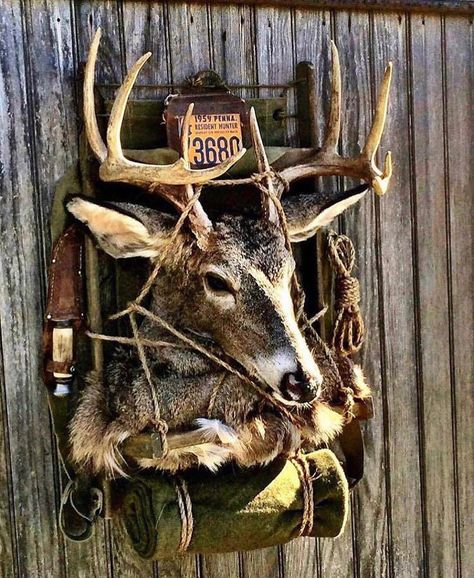 Four Important Design Considerations When Planning a Home Bar - Man Cave Home Bar Deer Hunting Decor, Deer Camp, Hunting Decorations, Hunting Art, Hunting Stuff, Bow Hunting, Deer Mount Decor, Deer Decor, Skull Decor