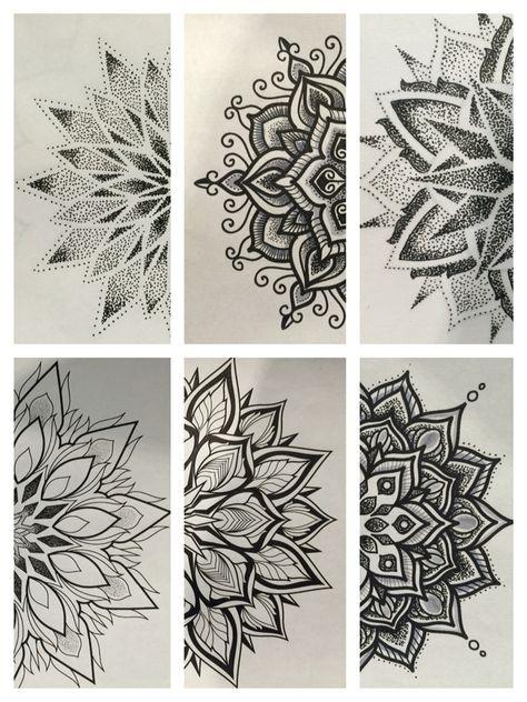 Cieniowanie Tattoo Tatuaże Tatuaż I Tatuaż Z Mandalą