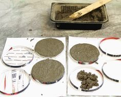 DIY: Make Concrete Coasters this site is amazing! I& use Portland cement, It doesn& have the large aggregate.