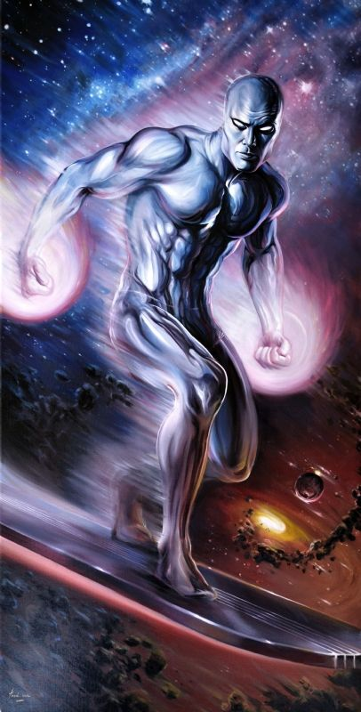 I been reading a lot of Silver Surfer recently a interesting character. This picture is by:Fred Ian