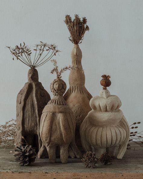 Ceramic creatures by Marion Barraud and Ugbu Ceramics