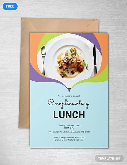 Complimentary Lunch Invitation Template Free Pdf Word Psd Apple Pages Illustrator Publisher Outlook Lunch Invitation Invitation Template Free Invitations