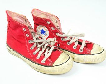 80s Converse Size 4 Red Converse All Star Size 4 Made in