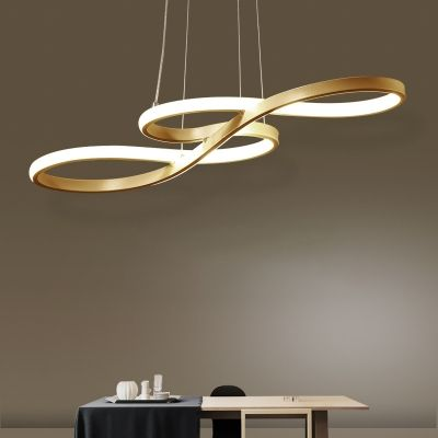 Post Modern Small Large Led Chandeliers 29 53 In 2020 Pendant Lighting Dining Room Hanging Lights Black Pendant Lamp
