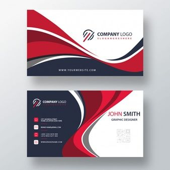 Download Wavy Style Business Card Template Design For Free