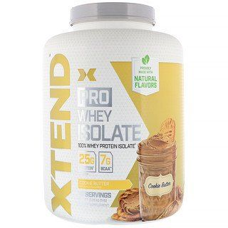 Scivation Xtend Pro Whey Isolate Cookie Butter 5 Lb 2 28 Kg