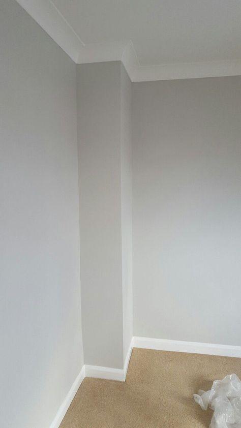Hallway colour - dulux pebble shore                                                                                                                                                                                 More