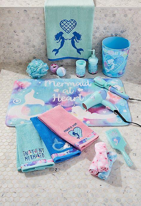 Mermaid Hair Dryer Justice Mermaid Bathroom Decor Mermaid Bathroom Girl Bathroom Decor