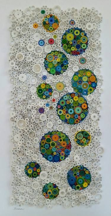 Saatchi Art Artist Laurie Brown Collage The Champagne And The Stars Art Rolled Paper Art Quilled Paper Art Paper Art