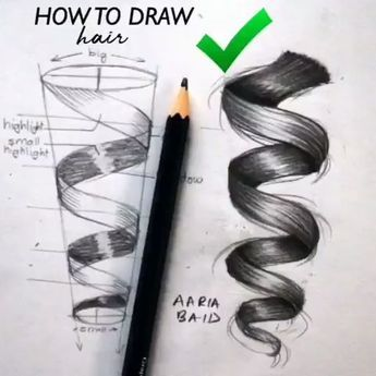 How to draw hair by @surelysimpleblog #drawings #art