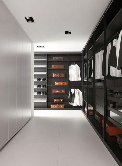 Husband's Walk-in Closet