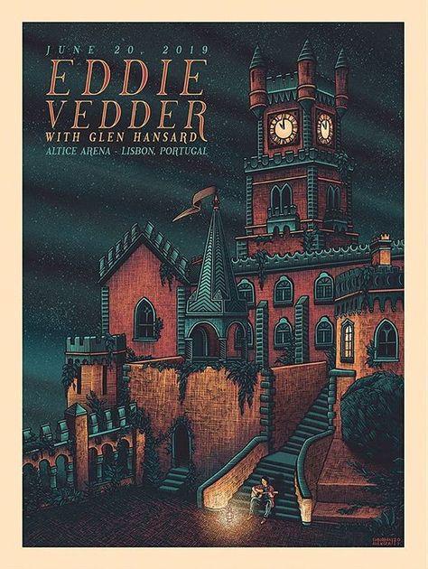 POSTER EDDIE VEDDER date TOUR 2019 Firenze Rocks MANIFESTO LOCANDINA QUALITY TOP
