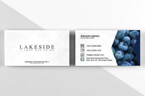 c8dd5b42930 Business Card Mockup Vol 1 - 20 OFF  smart click PSD object ...