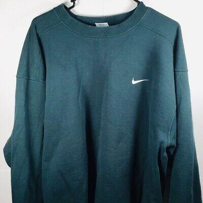 Adebay Vintage Nike Crewneck Dark Green Vtg Sweatshirt Men Sz L Adebay Crewneck In 2020 Vintage Nike Sweatshirt Crewneck Sweatshirt Outfit Nike Crewneck Sweatshirt