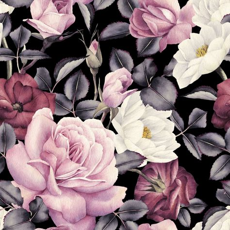 Blush Vintage Roses Wallpaper Mural - 100W x 100H