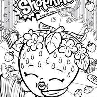 Desenho De Shopkins Morango Para Colorir Shopkins Desenhos Para
