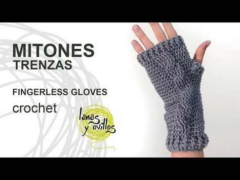 Tutorial Mitones Crochet o Ganchillo Fingerless Gloves (English subtitles) - YouTube