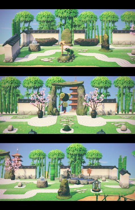 Zen Garden Photo Shoot (Part - AnimalCrossing Animal Crossing 3ds, Nintendo Switch Animal Crossing, Animal Crossing Wild World, Animal Crossing Qr Codes Clothes, Zen Garden Design, Zen Design, Japan Design, Ac New Leaf, Wild Animals Photos