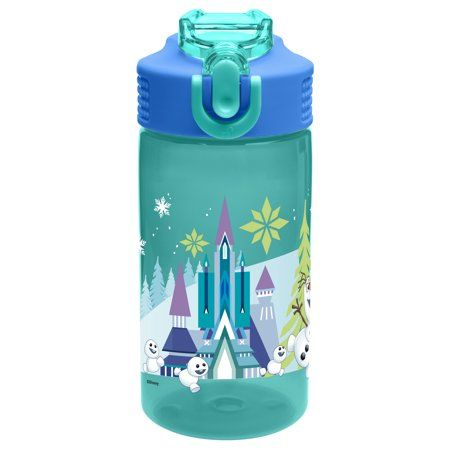Zak Designs 16 Ounce Frozen Park Bottle Walmart Com Water Bottle Bottle Water Bottle With Straw