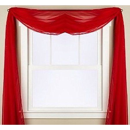 Home Scarf Valance Window Scarf Red Living Room Decor