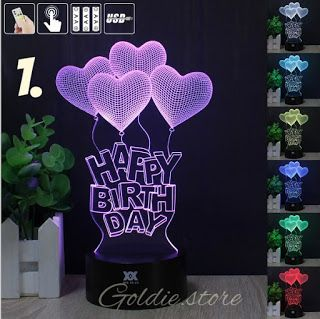 Sfi With Nouman Ahmad 7 Color Led 3d Happy Birthday Love Hearts Lamp Nig Heart Lamp Led Color Happy Birthday Love