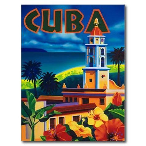 Carte Cuba Amerique.Carte Postale Le Cuba Vintage Zazzle Fr En 2019 Cartes