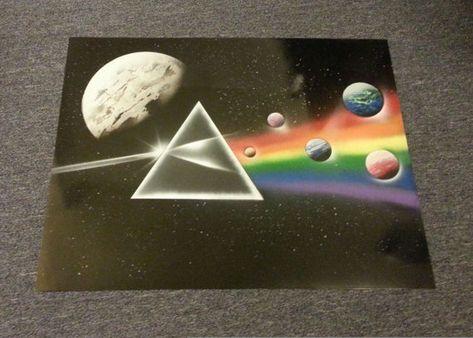 Pink Floyd Spray Paint Art